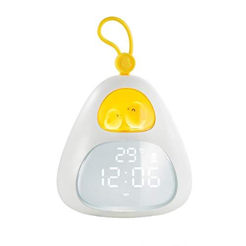 Despertador Digital, Despertador de cabecera, Luz de Noche LED, Despertador de applet de Dibujos Animados Digital para niños Despertar