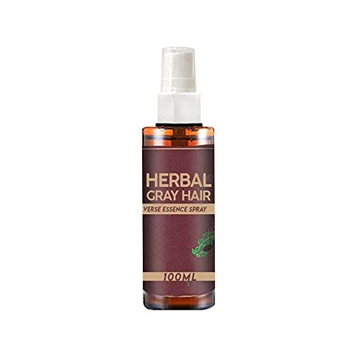 Hair Darkening Spray, Herbal Gray Hair Reverse Essence Spray, Scalp Hydrating Serum, Black Hair Shampoo Hair Dye for Women Men Grey Hair, Volumizing & Moisturizing (100ml)