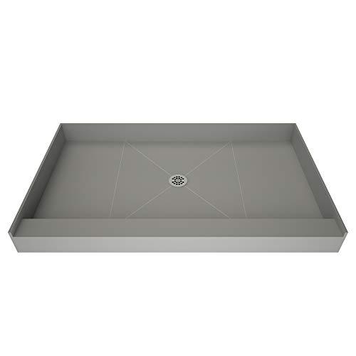 "Tile Redi P3042C-PVC Base Shower Pan, 42"" W x 30"" D, Polished Chrome"