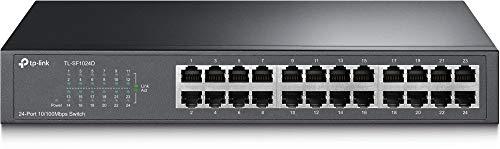 TP-Link TL-SF1024D V2.0 Switch Desktop 24 Porte RJ45, Fast Ethernet 10 / 100 Mbps, Plug & Play, Struttura in Acciaio