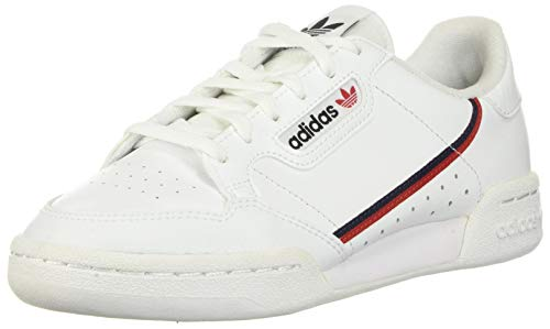 adidas Continental 80 J, Scarpe da Fitness Unisex-Adulto, White Scarlet Collegiate Navy, 38 2/3 EU