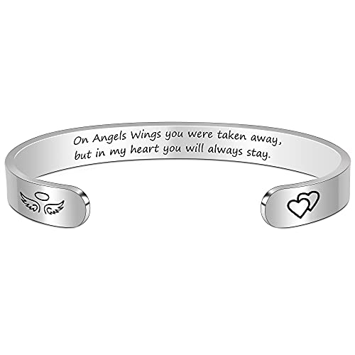 BTYSUN Bracelets for Women Sympathy Gifts for Loss of Mom Father Husband Wife Sister Bff in Memory of Loved One Gifts Memorial Jewelry