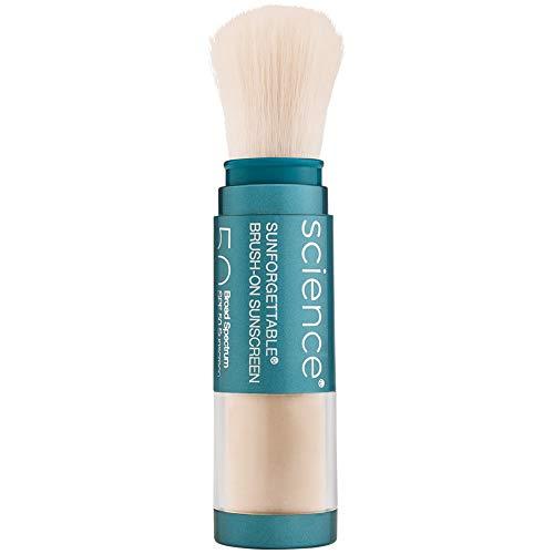 Colorescience Brush-On Sunscreen, Sunforgettable Mineral Powder for Sensitive Skin, Broad Spectrum SPF 50 UVA/UVB Protection