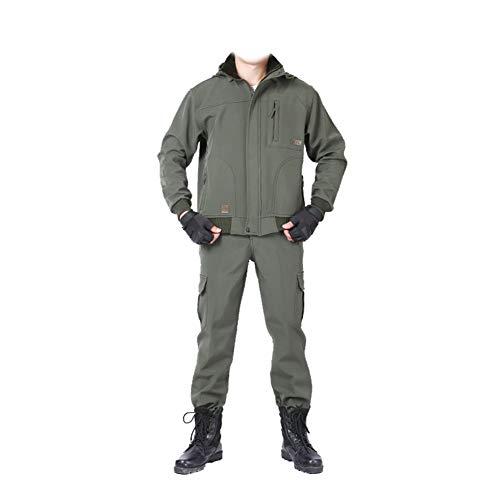 YJKJ Chaqueta de soldadura, multifuncional de trabajo, además de terciopelo grueso traje de invierno para hombre, chaqueta elástica, talla XXL