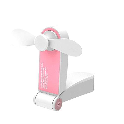 Lowest Price! YunZyun Mini Portable Fan USB Rechargeable Hand Held Travel Blower Cooler Fan 2PC Home...