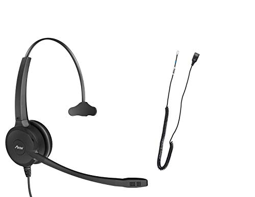 Professional Headset Bundle Axtel Prime Mono with AXC-02 Cable | Noise Cancellation - Compatible with Grandstream GXP1600, GXP1700, GXP2100, GRP2600 Series Phones