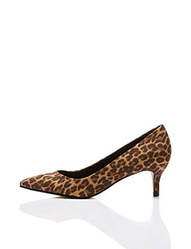 find. Damen Kitten Court  Closed-Toe Pumps, Beige (Leopard Leopard), 39 EU (6 UK)