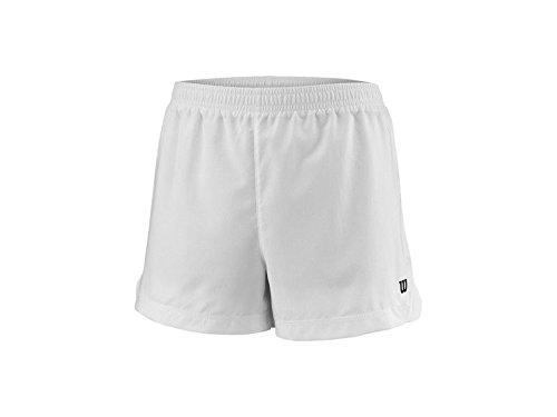 Wilson Mädchen Tennis-Shorts, G Team 3.5'' Short, Polyester, Weiß, Größe: XS, WRA766801