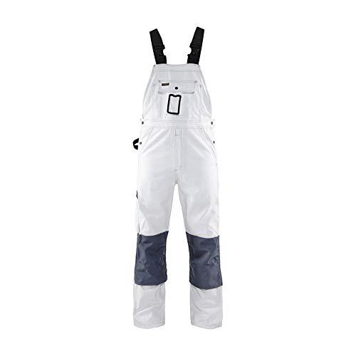 BLÅKLÄDER Blakläder Maler Latzhose 2611 100% Baumwolle 46 Weiß/Grau