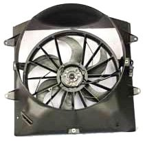 TYC 621130 Jeep Grand Cherokee Replacement Radiator/Condenser Cooling Fan Assembly