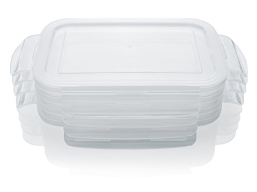 Replacement Snap Locking Lids For Otis Classic Glass Meal Prep Food Storage Container 28oz Size - 4pc Lids