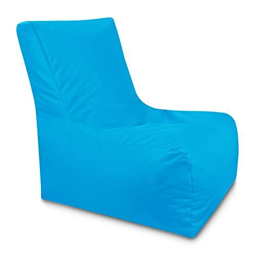 GiantBag Zitzak, loungestoel, indoor, reuze-zitzak, outdoor, waterbestendig, rugleuning & met ritssluiting, navulbare zitzak, keuze uit 21 kleuren en 3 maten XX-Large blauw