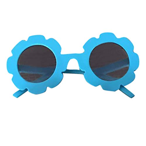 Luonita Best First Sunglasses for Infant Baby Toddler Kids Anti-UV Glasses Cartoon Goggle Sunglasses 2T-12T (Blue)