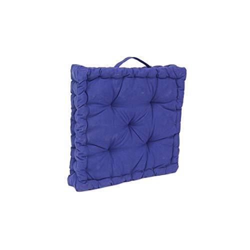 LEYENDAS Cojin para Silla de 40 x 40 x 8 cm para Interior y Exterior de 100% algodón cojín Acolchado/cojín para el Suelo (Azul Marino, 1)