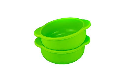 Honey Bear Kitchen Solid Silicone Snack Bowls (Set of 2, Green Apple)
