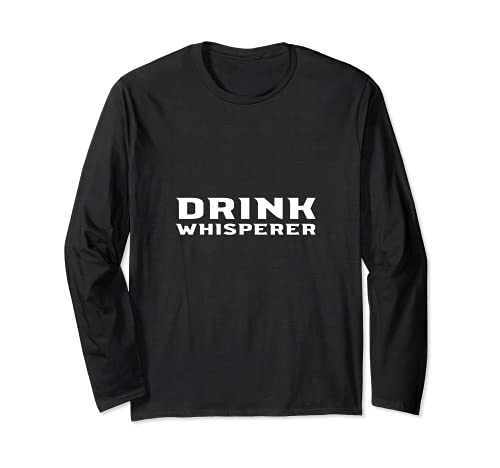 Drink Whisperer Bartender Barman Barmaid Cocktail Maker Manga Larga