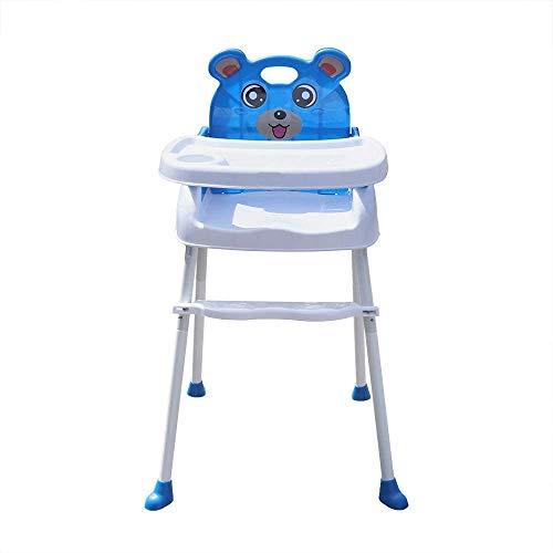 Yunrux 4 in 1 Klappstuhl Kinderstuhl Faltstuhl zusammenklappbar Kinder Hochstuhl mit Gurt, Tisch Verstellbar und Klappbar Essstuhl Sitzerhöhung Treppenhochstuhl Blau