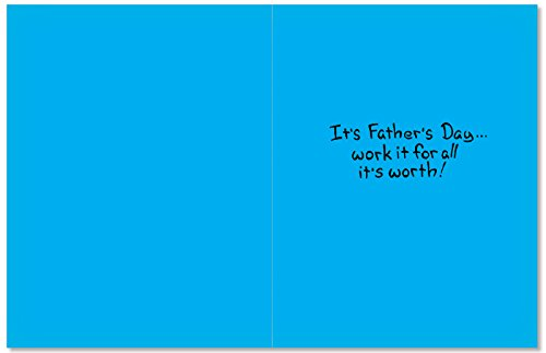 Dad on the Roof - Hard Working Man, Father's Day Card with Envelope (4.63 x 6.75 Inch) - Hilarious Cartoon Appreciation, Happy Fathers Day Note Card - Dad's Day Stationery 0366 Photo #2