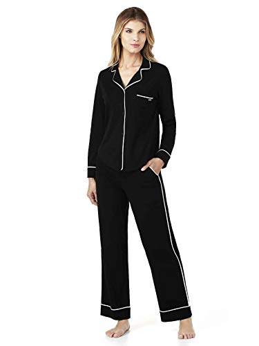 DKNY New Signature Jersey-Schlafanzug, geknöpft Damen