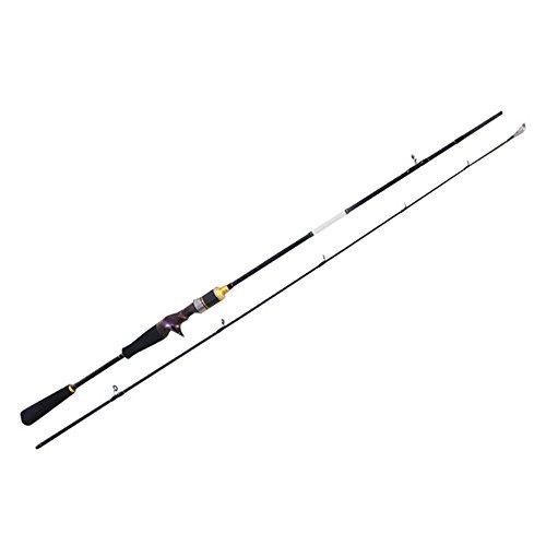 Yuleduo Angelrute für Jagd, Hai, Spinngießen, Baitcasting, Kohlefaser, 2 Stück, tragbar, für den Außenbereich, 180 ultraleicht