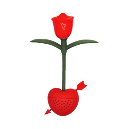 WBTY Rose Thee Zeef Thee-ei Hittebestendige Herbruikbare Rose Vorm Siliconen Losse Blad Thee Infusers