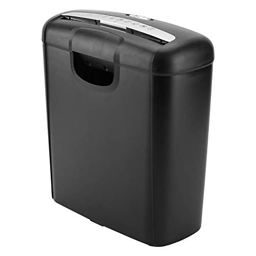 Paper Shredder, 6-Sheet Electric Shredder with 2.6 Gallon Pullout Basket and 2 Minutes Running Time for Paper and Credit Card Strip Cut Destroy for Home Office Use