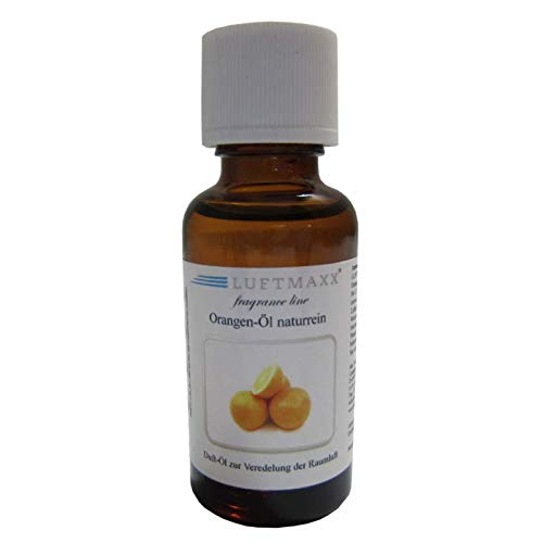 LUFTMAXX Orangenöl naturrein 30 ml für Staubsauger und Lufterfrischer Waschsauger Wassersauger