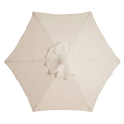 Yiran Telo di Ricambio per ombrellone, Telo di Ricambio per ombrellone da Giardino, Telo di Ricambio in Poliestere Tettuccio per ombrellone Ombrellone da Sole Tenere al Fresco per Il Patio