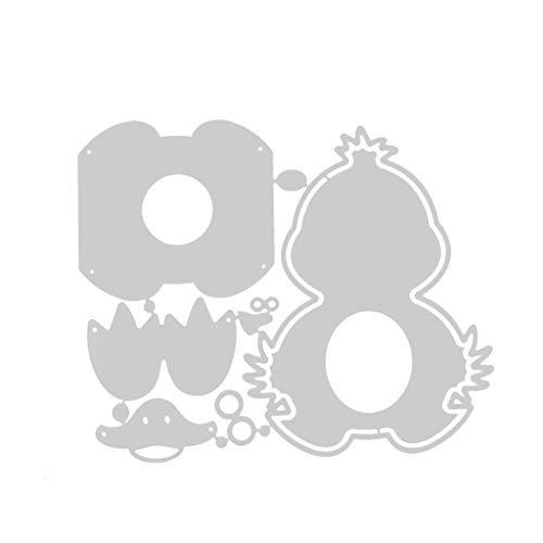 Wusuowei Stanzschablone Stanzformen Easter Duck Metal Schablonen Schneiden Für DIY Grußkarte Scrapbooking Geburtstag Ostern Sammelalbum Fotoalbum Deko