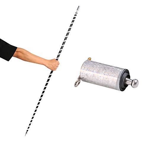 Listenwind Magic Pocket Staff Portable Martial Arts Metal Staff 110CM/43.31 inches (Black White, 1.1m)