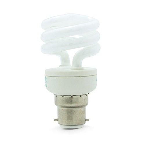 Jour 6400° K Ampoule à économie d'énergie Culot B22 9 W = ampoule spirale x 10