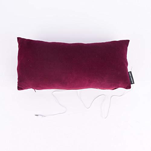 SCHÖNER LEBEN. Hörkiss Musikkissen 20x42cm, Farbe Hörkiss:Bordeaux rot