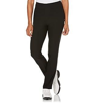 PGA TOUR Women s Plus Size Pull-On Golf Pant Caviar Black Medium