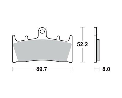 Garnitures de frein TRW MCB 659 pour SUZUKI VZ 1600 M 1600 Marauder 04 (avant)