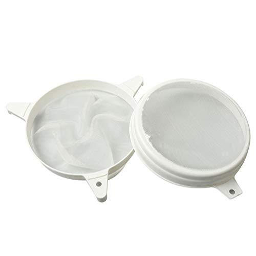 Hemoton Tamis à Miel Double Tamis Tamis Extracteur de Miel Filtre Apiculteur Outil Cuisine Filtre