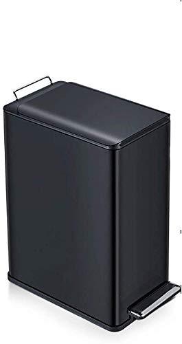 Haojie Abfalleimer mit verdecktem Fuß, schmal, für Wohnzimmer, Schlafzimmer, Badezimmer, Küche, rechteckiger Fußtyp C, 9 l