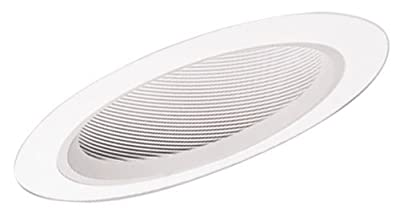 Halo Recessed 456W-6PK Trim Baffle Trim for Slope Ceiling White Trim with White Baffle