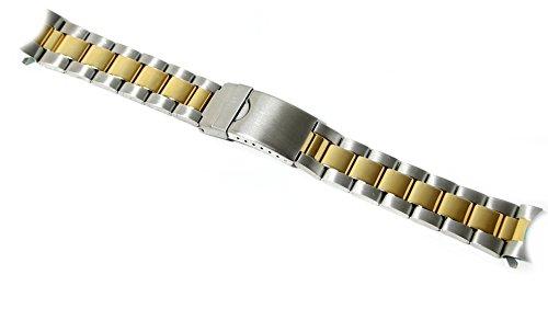 Cinturino oyster olorogio acciaio ansa curva 20mm bracciale bicolor...