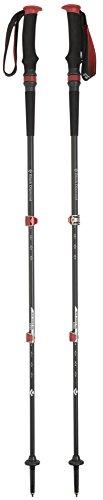 Black Diamond Trail Pro Shock - Bastones de trekking y senderismo, color negro/rojo, 68-140cm