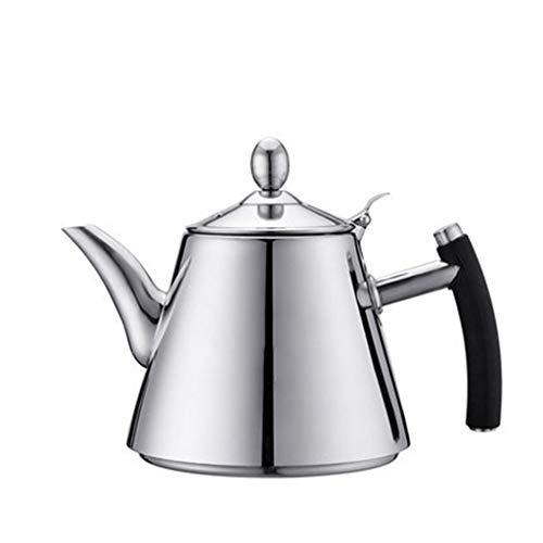SJQ-coffee pot CafetièRe en Acier Inoxydable, Corps éPaissi/PoignéE RéSistante à la Chaleur, 1200ml, Convient pour Les CuisinièRes à Induction/Bouilloire éLectrique/Bouilloire