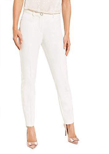 comma Damen Regular Fit: Bügelfalten-Hose White 44