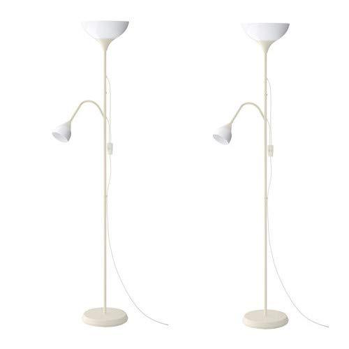 2 X IKEA Stehlampe Deckenfluter 'NOT' Leseleuchte Leselampe - 176 cm hoch - atmosphärische Standleuchte - in WEISS