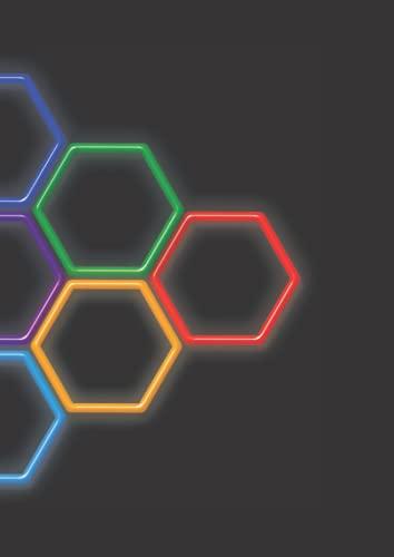 Organische Chemie Hexagonal Papier: 200 Seiten Notizbuch für Organische Chemie und Biochemie mit Hexagon Grafikpapier