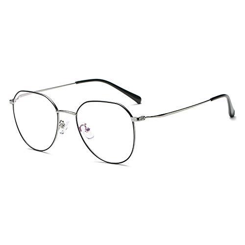 GEMSeven Einfache Metall Ovale Brillengestell Klare Linse Brillen