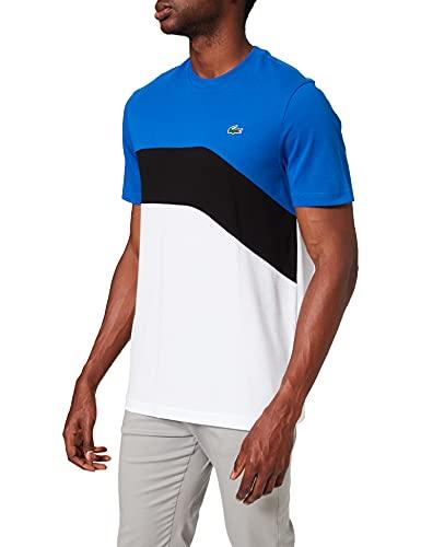 Lacoste TH9656 Camiseta, Lazuli/Noir-Blanc, S para Hombre