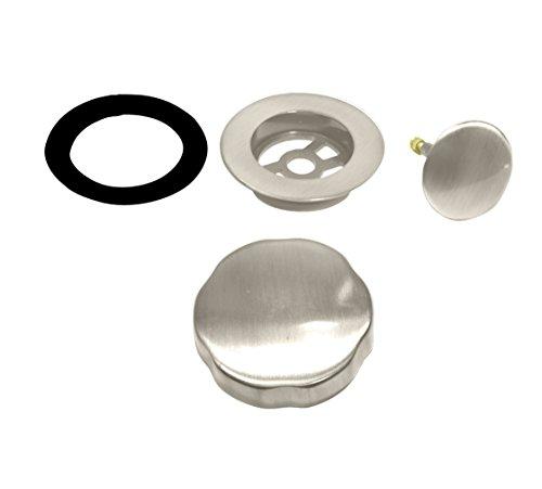 Westbrass Standard-Verkleidung für Kabelantrieb, Badewannenablauf, Nickel, satiniert, D50T-07