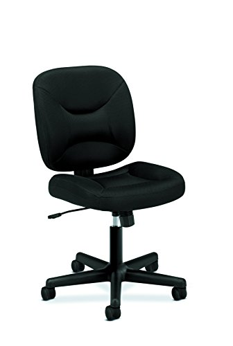 HON ValuTask Low Back Task Chair - Mesh Computer Chair for Office Desk, Black (HVL210)