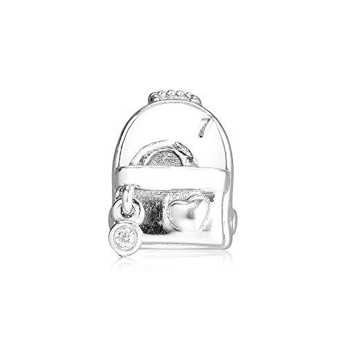 LIIHVYI Pandora Charms para Mujeres Cuentas Plata De Ley 925 Bolsa De Aventura Fabricación De Joyas De Bricolaje para Compatible con Pulseras Europeos Collars