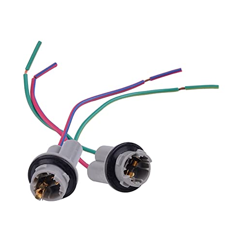 ZSYLOVE ZHANGSUYUAN 2pcs 12v 13.5cm 912 920 921 T15 W16W Nylon Base Base Cableado Cableado Conector Soporte de Conector Adaptador de Pigtail Ajuste para la mayoría de los Autos