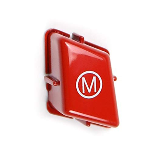 BIlinli Auto-Lenkrad M-Modus-Taste für BMW-3er M3 E90 E91 E92 E93 2007-2013 Ersatzkappe für Autozubehörschalter